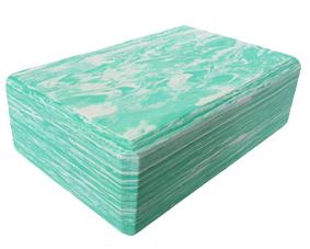 Block Foam Marbled Green