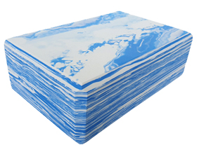 Block Foam Marbled Blue